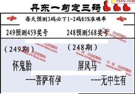 福彩3d第18249期山东真诀