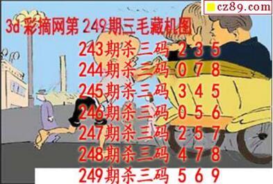 福彩3D第2018249期藏机图
