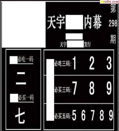 3d298期:天宇一句定三码+胆码图